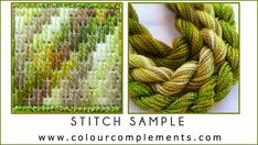 NEEDLEPOINT STITCH SAMPLES - hand dyed perle cottons