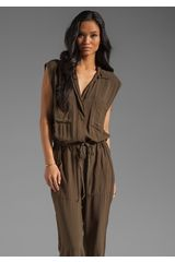 Enza Costa Challis Jumpsuit in Olive