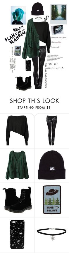 """""""Idk"""" by literaldisaster ❤ liked on Polyvore featuring Crea Concept, Helmut Lang, Polaroid, RIPNDIP, Dr. Martens, Looking Glass and Miss Selfridge"""
