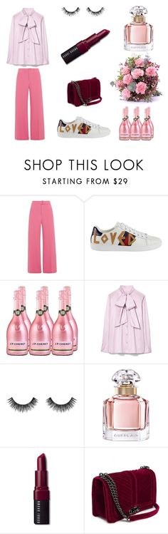 """PINK"" by poljakova-yulya on Polyvore featuring мода, River Island, Gucci, Tory Burch, Velour Lashes, Guerlain и Bobbi Brown Cosmetics"