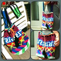 iCrochetstuff: Tapestry Mochila bag Diy Crochet Patterns, Tapestry Crochet Patterns, Crochet Chart, Free Crochet, Knit Crochet, Crochet Bags, Mochila Crochet, Tapestry Bag, Ibiza Fashion