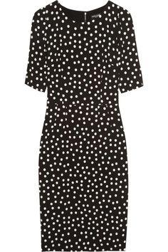 Dolce & Gabbana Polka-dot crepe dress