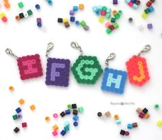 Repeat Crafter Me: Perler Bead Stitch Markers