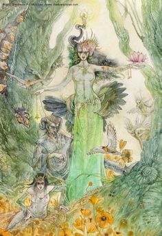 Stephanie Law -  Strange Dreams : In the Green Shadows (detail)