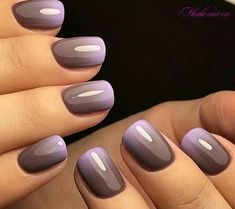 Nagellack-Farbtrends für 2019 Nail Polish l.a nail polish Purple Nail Polish, Purple Nails, Toe Polish, Blue Nail, Fancy Nails, Pretty Nails, Nagel Blog, Nagellack Trends, Dipped Nails