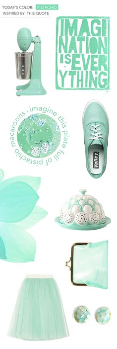 I'm having a hard time deciphering between pistachio, duck egg teal, mint and aqua.  (via designlovefest)