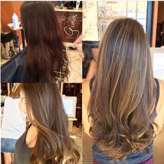 "I'll ask for this next time... ""Before an after on VIRGIN hair taking into…"