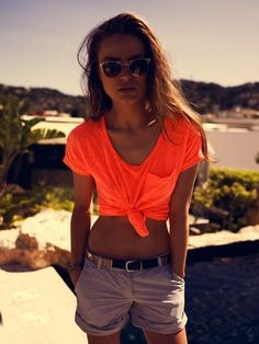 neon top with those shorts TO DIE FOR  JUST THOUGHT I PUT IT OUT THERE!!!!!   REPIN IF U AGREE