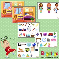 -- Bedroom Barrier Game for Vocabulary Development -- This barrier game includes a bedroom scene, 6 objects, six characters, full instructions and preparation requirements. -- Key words: barrier, game, language, development, vocabulary, speech, therapy, pathology, printable, downloadable.