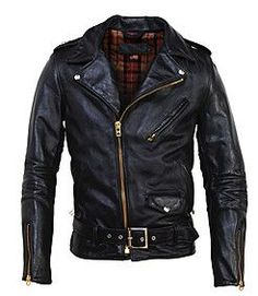 Horsehide Perfecto Motorcycle Jacket by Schott NYC Schott make some of the best motorcycle jackets money can buy and this one is no exception, made from horsehide leather in the USA and featuring nickel… Vintage Leather Motorcycle Jacket, Men's Leather Jacket, Biker Leather, Motorcycle Outfit, Leather Men, Black Leather, Motorcycle Jackets, Leather Jackets, Moto Jacket