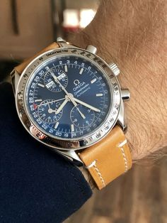 Omega Speedmaster Blue Dial Automatic reduced men's wristwatch ⌚️ FOR SALE 👇 watches men Omega Speedmaster Blue Dial Automatic reduced men's watch Omega Speedmaster, Stylish Watches, Cool Watches, Elegant Watches, Men's Watches, Unusual Watches, Fine Watches, Vintage Watches For Men, Luxury Watches For Men