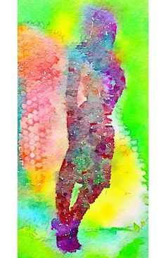 Colourful Abstract Watercolour Woman