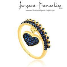 Acesse: www.joycefenolio.com.br  Anel em banho de ouro 18k com zirconias Azul em Aplique Rodio Negro❤ - ✅Pedidos via direct ou WhatsApp 19 984289457 ✅Entregas para todo o Brasil ! #semijoias #joycefenoliojoias #luxo #tendencia #tops #elegant #modafeminina #stylish #boanoite