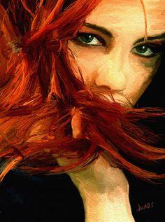 Girl Portrait 08 Painting  - Girl Portrait 08 Fine Art Print