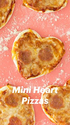 Homemade mini heart pizzas are so easy to make! Perfect for valentines, pizza lovers, or occasion! (Click through for recipe video) by Sarah Hearts Valentines Day Dinner, Valentines Food, Valentine Treats, Valentine Heart, Heart Shaped Pizza, Heart Shaped Cookie Cutter, Quiche, Wraps, Mini Heart
