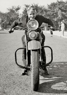 Sally Halterman the first woman granted a motorcycle license in Washington DC in 1937.