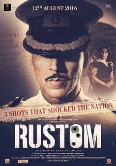 Check brand new poster of Akshay Kumar upcoming movie Rustom starring Akshay Kumar & Ileana D'Cruz. The movie poster shared