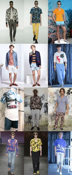 Tropical and Floral Prints On The SS15 Menswear Runways at London Collections: Men