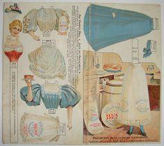 Forbes 1895 Original Pillsbury Advertising Paper Doll