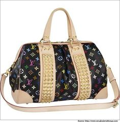 This designer bag from LV is an exclusive piece from ace designer Takashi Murakami.   #louisvuitton  #designerbag
