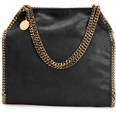 Stella Mccartney Falabella Shaggy Deer Small Tote Bag (€860) ❤ liked on Polyvore featuring bags, handbags, tote bags, black, tote hand bags, chain tote, tote purses, deer purse and stella mccartney handbags