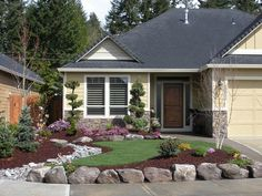 Love this front yard landscaping idea