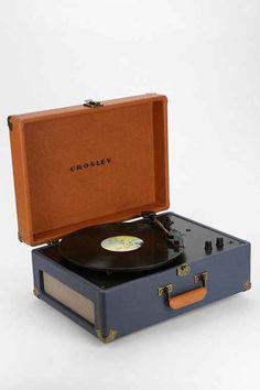 Crosley X UO AV Room Portable USB Vinyl Record Player- Blue Multi One