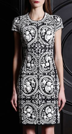 """Naeem Khan Pre-Fall 2013 this is one of my """"favorite shilhouettes"""" different fabric different look"""
