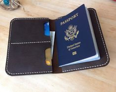 Times New Roman, Leather Passport Wallet, Gifts For Boss, Travel Organization, Passport Cover, Custom Leather, Leather Cover, Wallets, Crafts