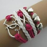 LEATHER DOUBLE INFINITE MULTILAYER BRACELET - FREE + $4.95 S/H