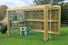 Backyard Fort, Kids Backyard Playground, Backyard Obstacle Course, Backyard For Kids, Backyard Projects, Kids Outdoor Play, Outdoor Fun, Bois Diy, Sandbox
