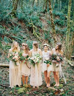 Style ideas for your boho bridesmaids