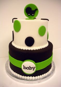 Modern Baby Shower Cake from The Cupcake Shoppe in Raleigh