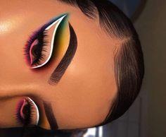 Dope Makeup, Makeup Eye Looks, Eye Makeup Art, Crazy Makeup, Skin Makeup, Eyeshadow Makeup, Makeup Inspo, Makeup Ideas, Makeup Tips