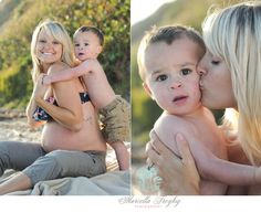 play time at the beach -maternity photo shoot