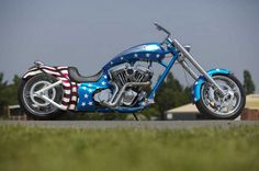 Wow!  Would love to ride this Polar Cycles chopper in a 4th of July parade.