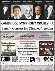 Cambridge Symphony Orchestra - Saturday, May 19, 2012