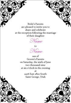 Pin by invite online on mehndi invitations wording samples wedding invitation wording reception only stopboris Choice Image