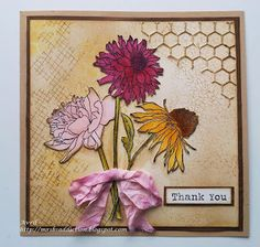 Tim Holtz Flower Garden rubber stamps & Mixed media die cut