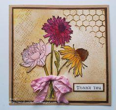 Tim Holtz Flower Garden rubber stamps & Mixed media die cut