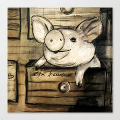 little Stretched Canvas by Lamade - $85.00