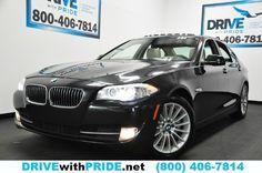 2013 BMW 5 Series 535I PREMIUM TECH 1 OWN HEAD UP DISPLAY NAV KEYLESS LEATHER  http://www.drivewithpride.net/web/used/BMW-5-Series-2013-Houston-Texas/26874544/