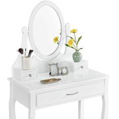 Bedroom Desk, Cozy Bedroom, Makeup Table With Mirror, Archi Design, Wood Crafts, Teak, Vanity, House Design, Furniture