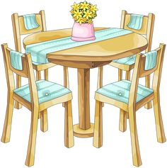 TABLE AND CHAIRS *