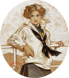 Leyendecker Edwardian sailor or sailorette, if that's even a word.