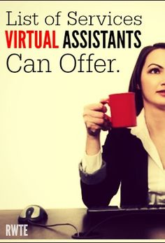 Are you wondering what services you can offer working from home as a virtual assistant? This post has lots of ideas to get your wheels turning. Work From Home Business, Work From Home Jobs, Make Money From Home, Business Tips, Make Money Online, Online Business, How To Make Money, How To Become, Business Opportunities