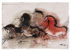 Horses by Józef Wilkoń