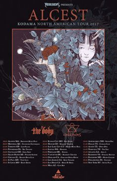 """Long Live The Loud 666: ALCEST """"KODAMA NORTH AMERICAN TOUR 2017"""" WITH:THE ..."""