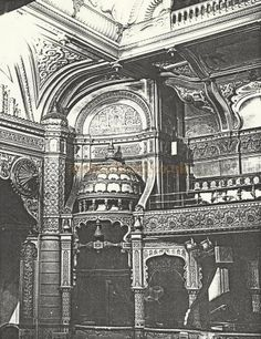 An early photograph of the Leicester Palace auditorium by T. Buckridge - Courtesy David Garratt