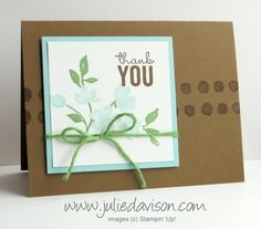 Clean and Simple Painted Petals Card by juls716 - Cards and Paper Crafts at Splitcoaststampers
